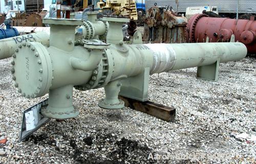 "Unused-UNUSED: Nitram Energy Inc heat exchanger, approx 361 sq ft, horizontal, U-tube. (116) SA-179 carbon steel tubes 3/4"" ..."