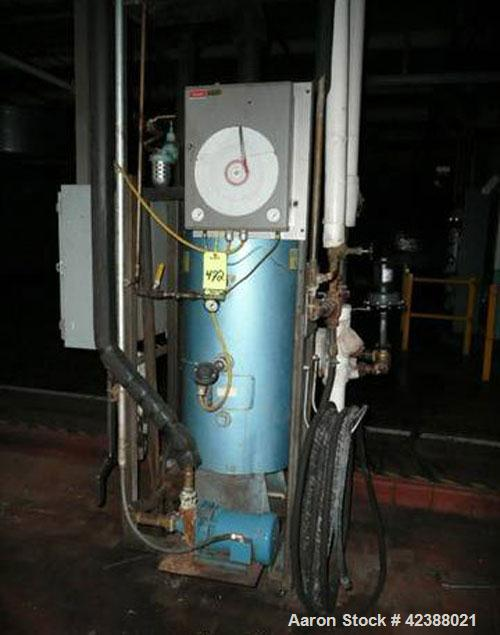 Used-Patterson-Kelly Compact Series-400 Steam Hot Water Heater  With 1-Hp Pump & Chart Recorder