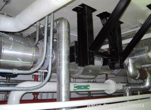 Used- Horizontal Pfaudler U Tube Heat Exchanger, 25.8 square feet