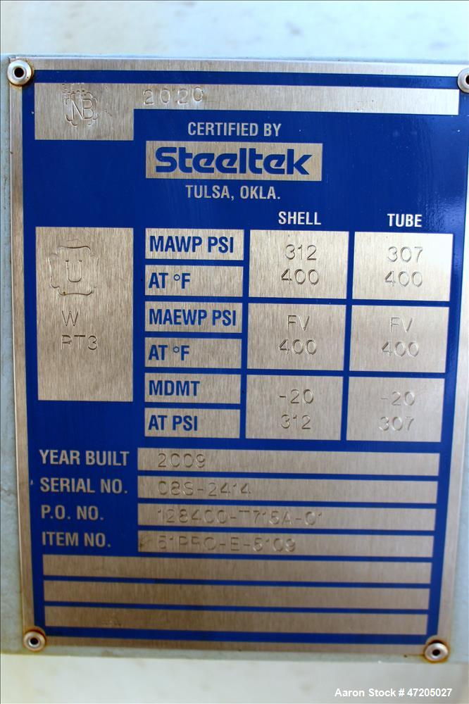 "Unused- Steeltek ""U"" Tube Heat Exchanger, Approximate 2,311 Square Feet, Type BEU, Size 27-240, Horizontal. Carbon steel she..."