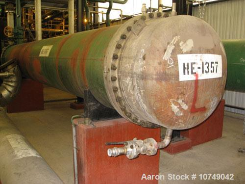 Used-Heat Exchanger, 304 stainless steel, 2461 square feet.
