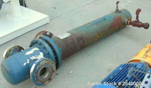 Used-ITT Standard2PassUTubeHeatExchanger,32 square feet,model 08048, type B-300S, horizontal. Carbon steel shell rat...