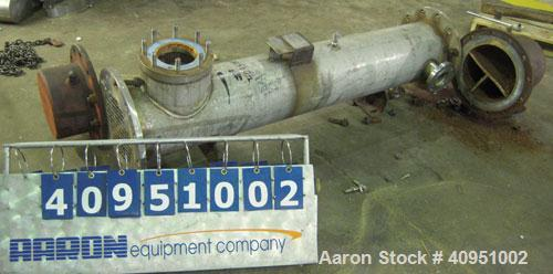 Used- KAM Thermal 4 Pass Shell and Tube Heat Exchanger, Approximately 122 Square Feet, Horizontal. 316 stainless steel shell...