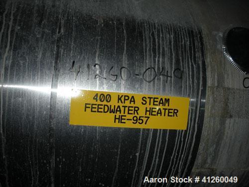 Used-Exchanger Sales & Service Heat Exchanger. Shell design pressure 185 psi @ 650 deg F, tube design pressure 1000 psi @ 65...