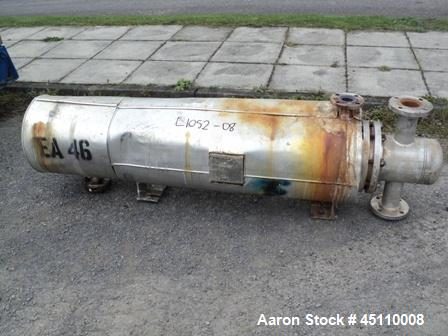 Used- Stainless Steel Horizontal Shell and Tube Heat Exchanger