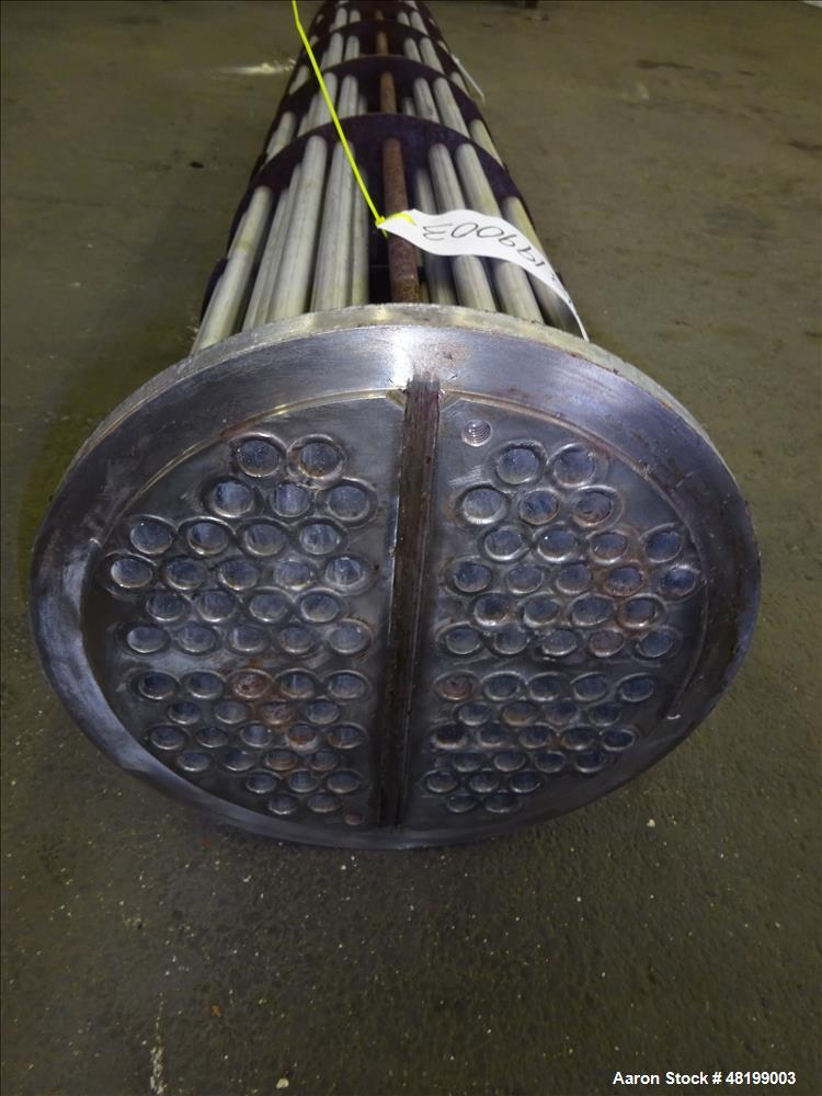 """Used- Shell & Tube Heat Exchanger U Tube Bundle Only, Approximate 100 Square Feet, Stainless Steel. (42) 3/4"""" Diameter x 6' ..."""