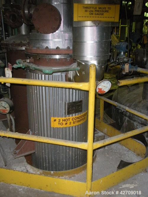 "Used- Manning & Lewis approximately 250 square foot vertical heat exchanger. (212) 3/4"" diameterAlloy 20 tubes rated 75 psi ..."