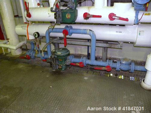 Used- Allegheny Bradford U Tube Heat Exchanger, Approximately 57 Square Feet, Horizontal. 304 Stainless steel shell rated 15...