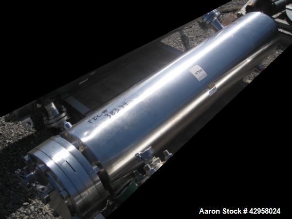 Used- Allegheny Bradford shell and tube heat exchanger, 20 sq ft U tube, 316L stainless steel tubes, tube sheet and bonnet (...
