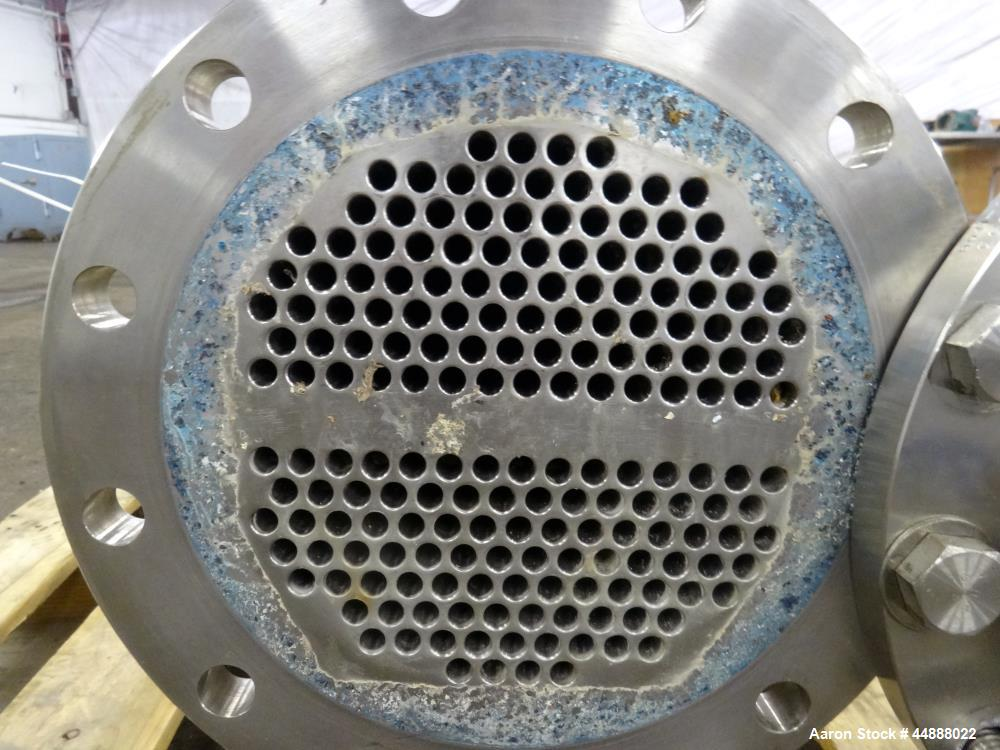 Used- Allegheny Bradford U Tube Heat Exchanger, Horizontal, Approximately 160 Square Feet. 304 Stainless steel shell rated 1...