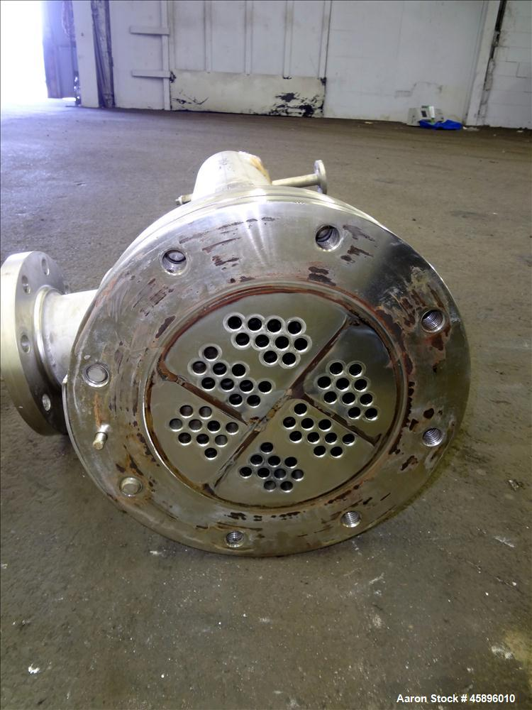 Used- Allegheny Bradford 6 Pass U Tube Heat Exchanger, Approximately 35 Square Feet, Horizontal. 304L Stainless steel shell ...