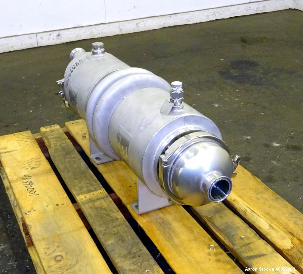 Used- Allegheny Bradford Corp Heat Exchanger, Approximately 25 Sqft. Horizontal.