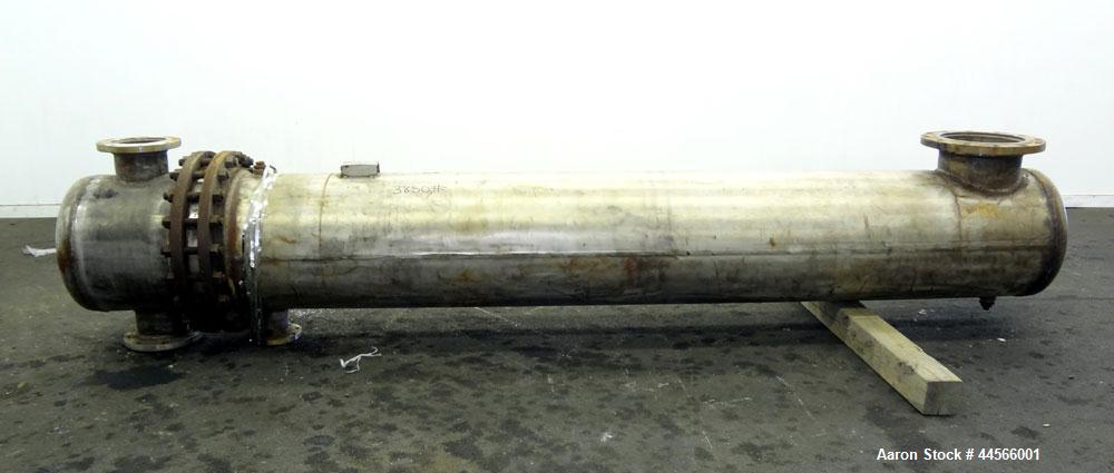 "Used- Alstrom Corp U Tube Heat Exchanger, 900 Square Feet, Model ADW, W-2-24-120, Horizontal. (230) 3/4"" Diameter x 120"" lon..."
