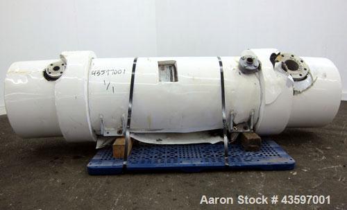 Used- Ametek Single Pass Shell & Tube Heat Exchanger, 152 Square Feet, Vertical. Size 15-B-48, Type 1-V-1. Carbon steel shel...