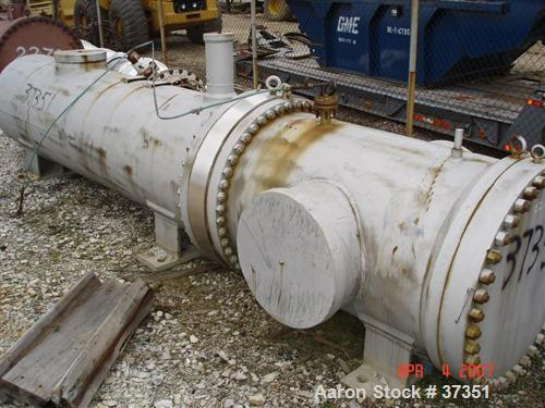 Unused- Ametek Inc, Schuette Koerting Inc heat exchanger, 660 square feet, U-tube. Carbon steel shell, heads. 304 stainless ...
