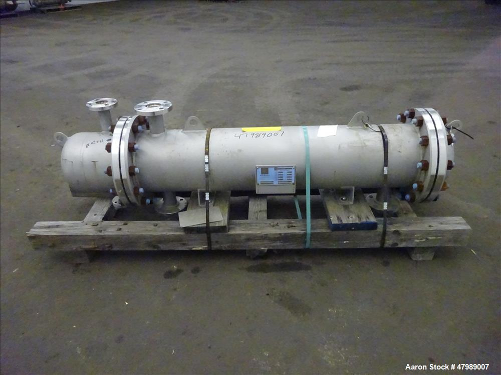 Used- API Basco Shell & Tube Heat Exchanger, Approximate 62 Square Feet, Horizon