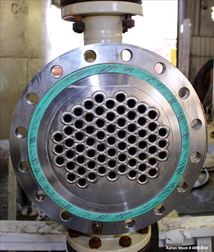 Unused- AT&F Advanced Metals Single Pass Shell and Tube Heat Exchanger, 76.2 Square Feet, Horizontal. Carbon steel shell rat...