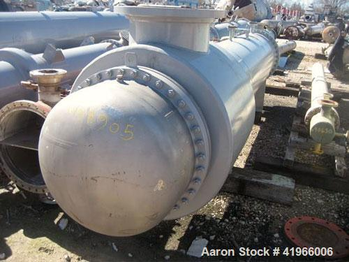 Unused- Atlas Industrial 4 Pass Shell and Tube Heat Exchanger, 1471 square feet, horizontal, type BEM 30-168. Carbon steel s...