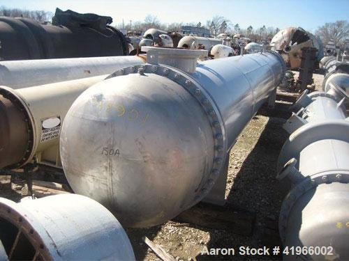 Unused- Atlas Industrial 8 Pass Shell and Tube Heat Exchanger, 2199 square feet, horizontal, type BEM 36-264. Carbon steel s...