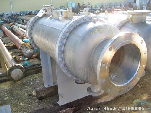 Unused- Atlas Industrial Single Pass Shell and Tube Heat Exchanger, 386 square feet, horizontal, type BEM 24-48. 304 Stainle...