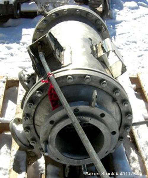 Used-Atlas Heat Exchanger, 97 square feet,  single pass, vertical. 304L stainless steel shell rated 100 psi at 350 deg F, (1...