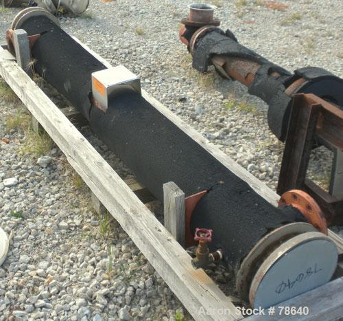 Used- Baeuerle & Morris Inc Shell and Tube Heat Exchanger, Horizontal, 50 Square Feet. Carbon steel shell rated 150 PSI at 3...