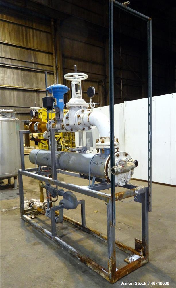 Used- ITT Industries U-Tube Heat Exchanger, Approximately 91 Square Feet, Horizo