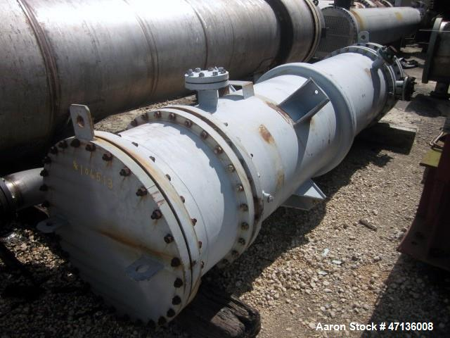 Used- Camden Alloy Fabricators Single Pass Shell & Tube Heat Exchanger, 1453 Square Feet, Vertical. Carbon steel shell rated...