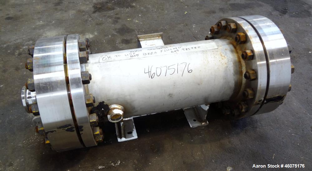 Used- Chemineer Shell & Tube Heat Exchanger Static Mixer, Approximate 50 Square Feet, Type 12-32 BEM, Horizontal / Vertical....