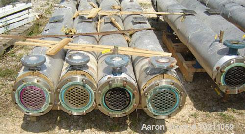 Used-5 Square Foot Kenics Chemineer High Efficiency Heat Exchanger, Type 6-107 Shell and Tube Heat Exchanger. 5.05 square fe...