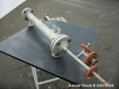 Used- Vertical Chemithon Shell & Tube Heat Exchanger, 8.5 Square Feet