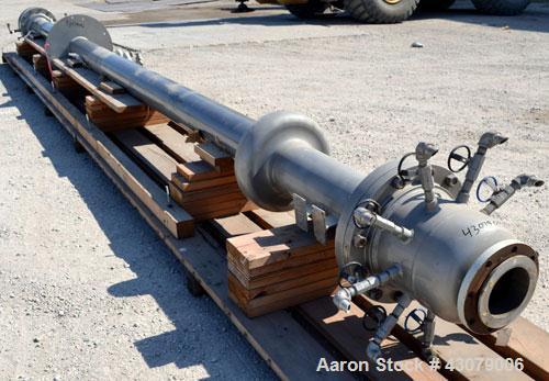 Used- Vertical Chemithon 9 TubePilot Scale Turbo Tube Reactor - HeatExchanger,44 Square Feet