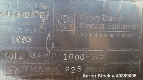 Used- Stainless Steel Cherry Burrell Coiled Tube Heat Exchanger