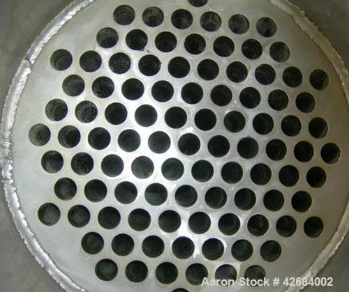 Used- Dedert Shell & Tube Heat Flash Condenser, approximately 357 square feet, vertical. 316L Stainless steel shell rated 10...