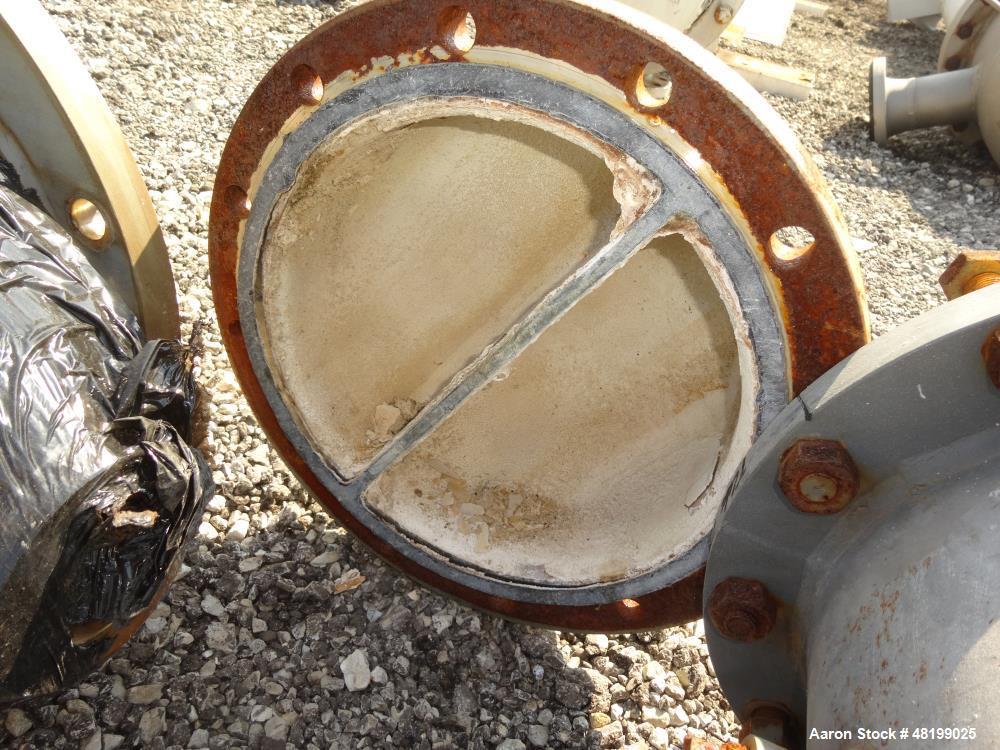 Used- Doyle & Roth Shell & Tube Heat Exchanger, 100 Square Feet, Horizontal.
