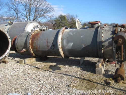 USED: Doyle and Roth single pass shell and tube heat exchanger, 1410 square feet, model VT3681-8V, size BEM 35-96M, vertical...