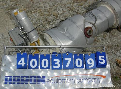 Used- Doyle And Roth U Tube Heat Exchanger, approximately 10 square feet, vertical. 316L stainless steel shell rated FV/75 p...
