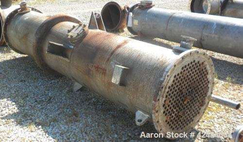 Used- Doyle and Roth Single Pass Shell and Tube Heat Exchanger, 969 square feet, horizontal. 316L Stainless steel shell with...