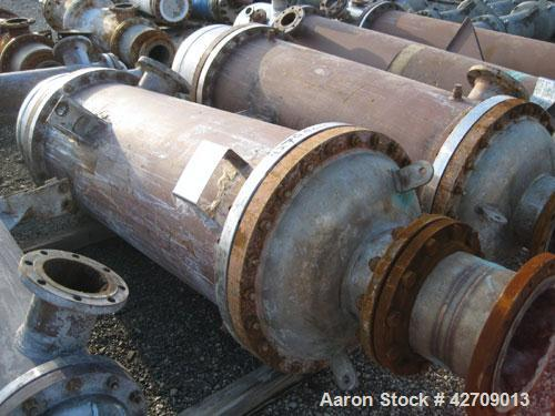 Used- Doyle & Roth Shell And Tube Heat Exchanger, 491 Square Feet, Vertical. Carbon steel shell rated 150 psi at –20/350 deg...