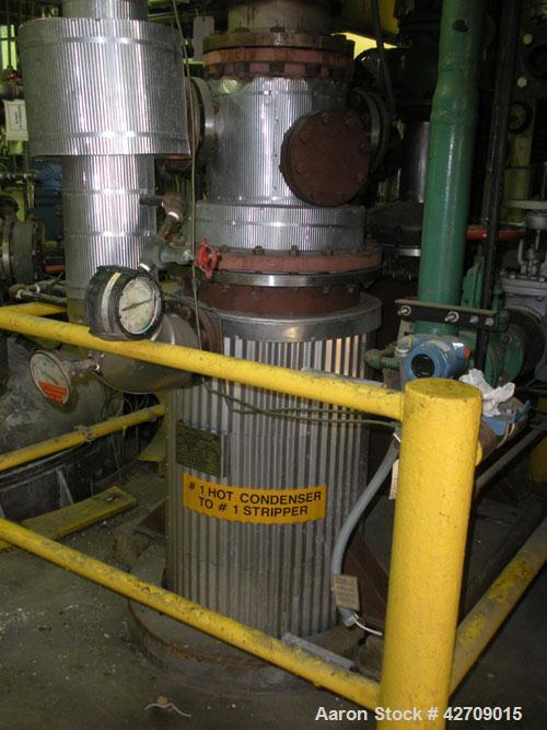 Used- Doyle & Roth Shell And Tube Heat Exchanger, 342 Square Feet, Vertical. Carbon steel shell rated 150 psi at –20/400 deg...