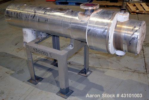Used- Doyle & Roth U Tube Shell & Tube Heat Exchanger, 27 Square Feet, Horizontal. Carbon steel shell rated 150 psi at 400 d...