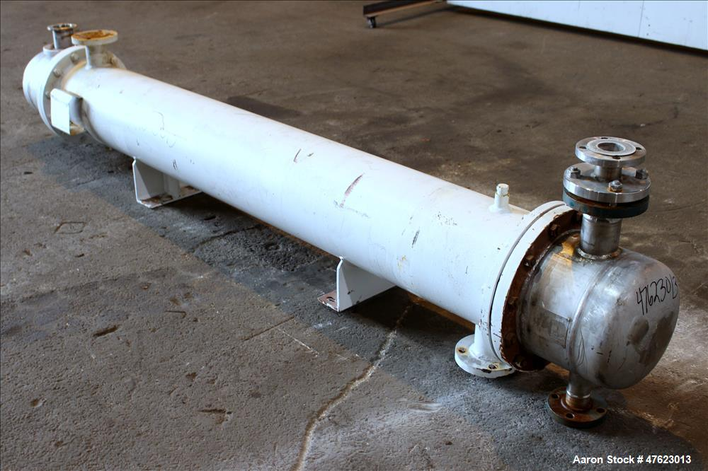 Used- Doyle & Roth Shell & Tube Heat Exchanger, 197 Square Feet, Horizontal.