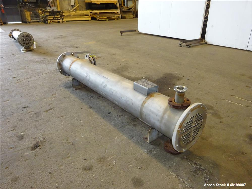 Used- Doyle & Roth Shell & Tube Heat Exchanger, 99 Square Feet, Horizontal.