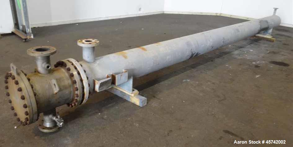 Used- Excell U Tube Shell & Tube Heat Exchanger, Approximately 431 Square Feet, Size 13-240, Horizontal. Carbon steel shell ...
