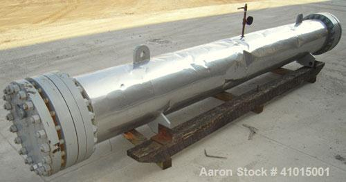 Used- FES Horizontal Heat Exchanger. Approximately 250 square feet. Carbon steel shell rated 400 psi @ 500 deg F. (95) 316 s...