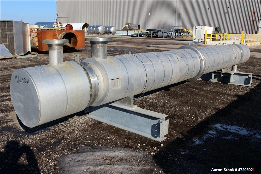 Unused- Perry Products Single Pass Shell & Tube Heat Exchanger, 1,231 Square Fee