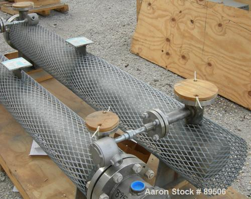 Used- Gaumer Electrically Heated Circulation Heater, 225 kW, 304 Stainless Steel, Horizontal. Stainless shell rated 150 psi ...