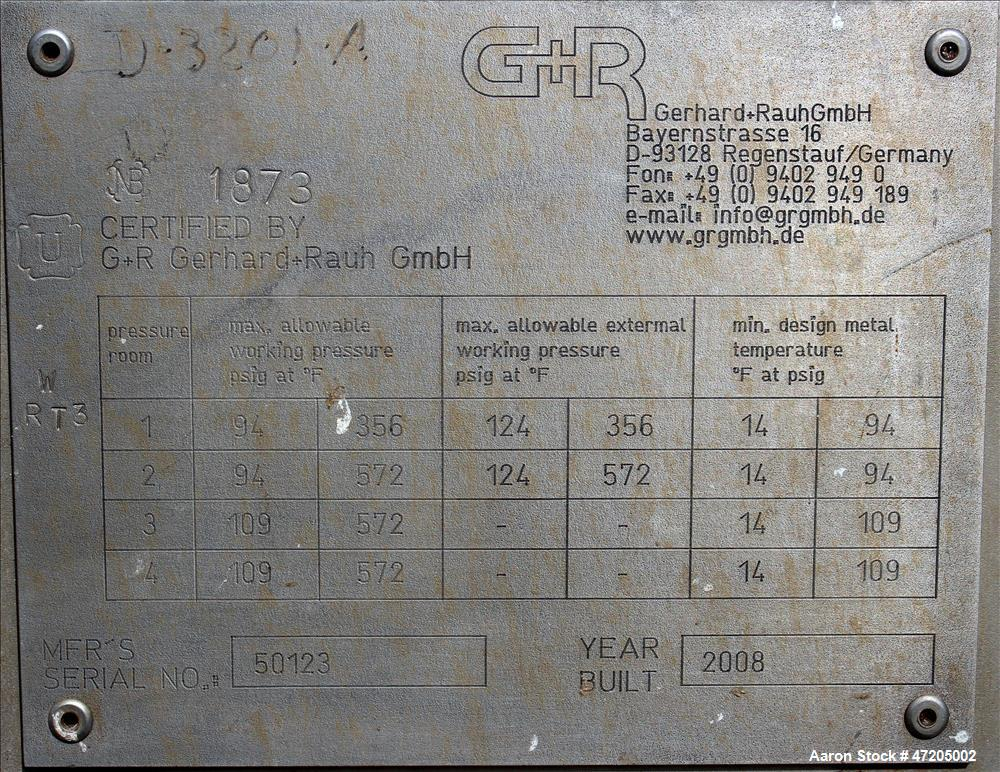Unused: G & R Gerhard and Rauh GMBH Stainless Steel Shell and Tube, U-Tube Type