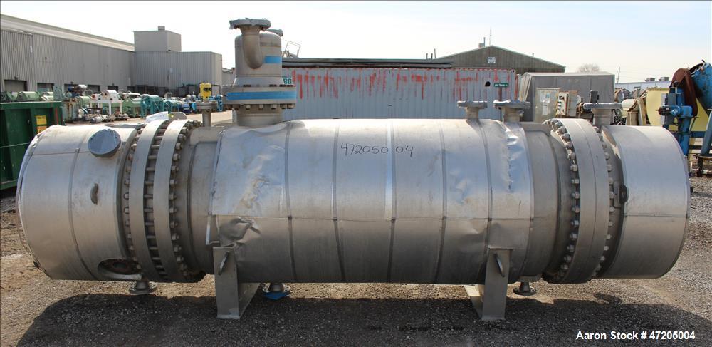 "Unused- G+R Gerhard+Rauh GMBH ""U"" Tube Heat Exchanger, Approximate 547 Square Feet, Horizontal. 316L Stainless steel shell r..."