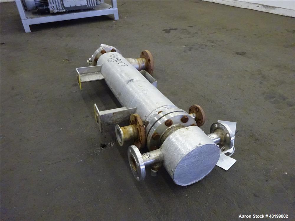 Used- Hoffman Process Shell & Tube Heat Exchanger, 4.7 Square Feet, Horizontal.